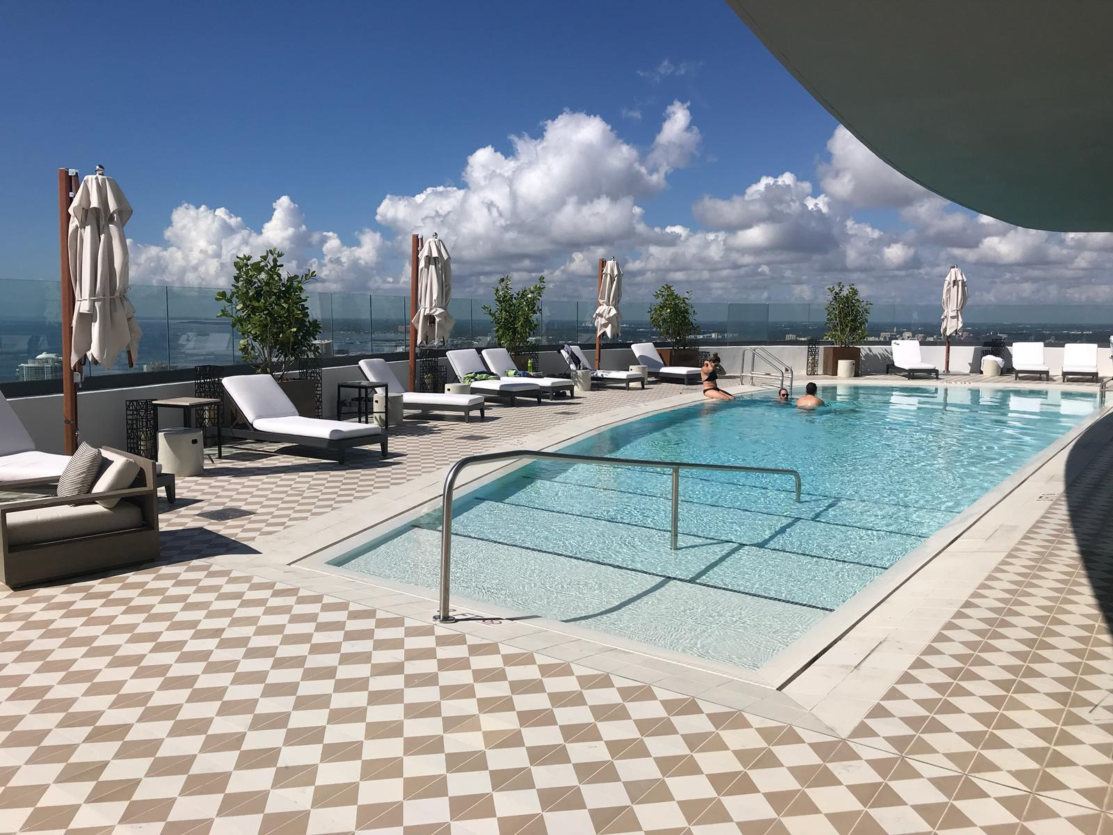 SLS Lux Brickell rooftop pool