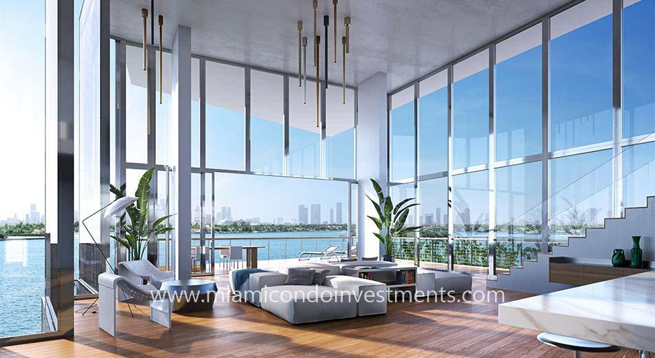 Monad Terrace penthouse living room