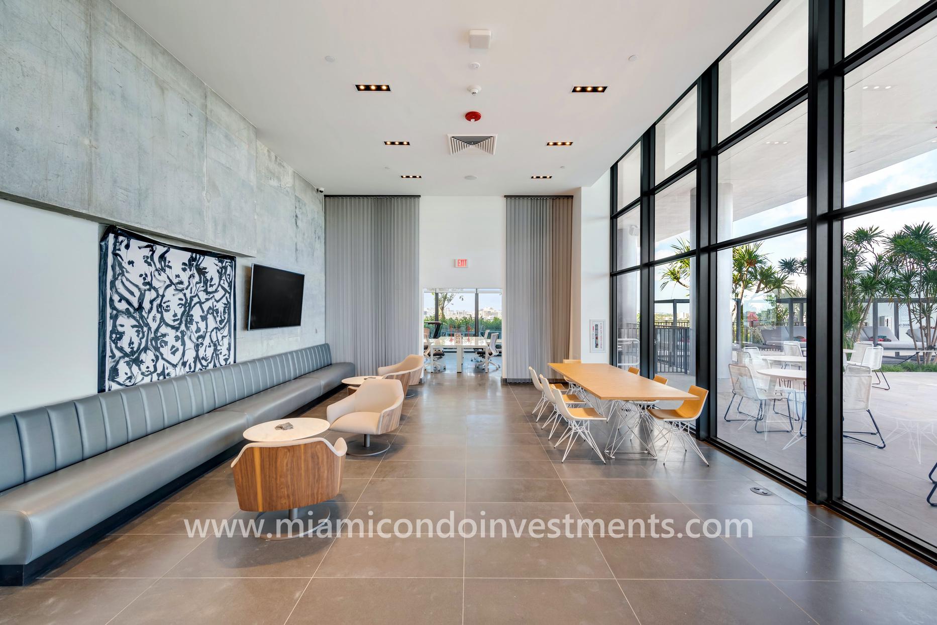 canvas lounge area