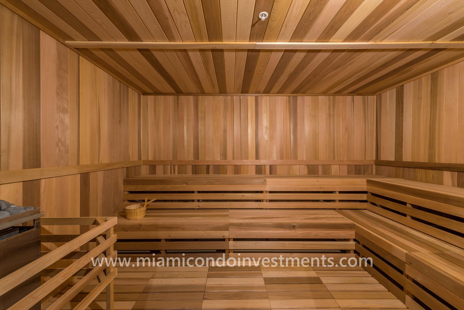 sauna at Canvas Miami