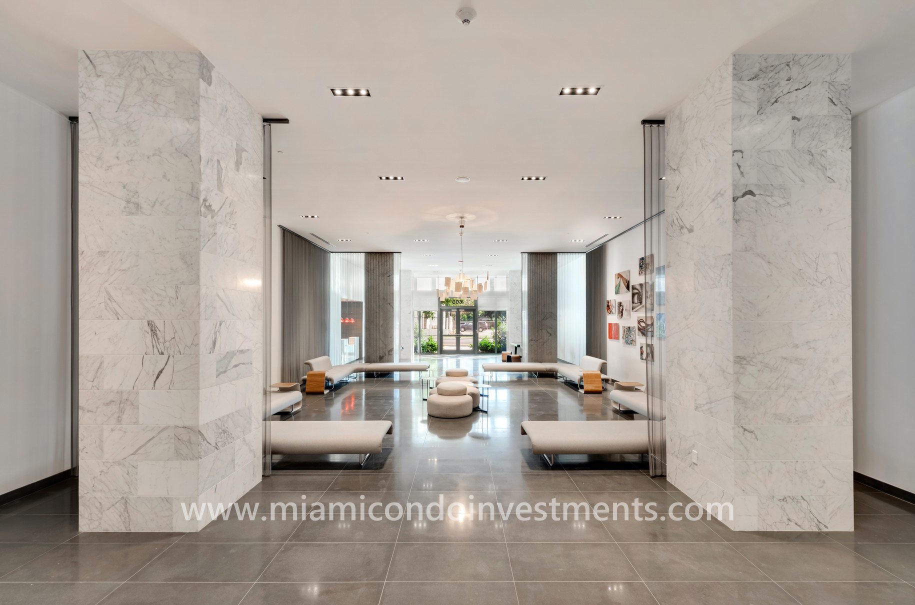 Canvas Miami lobby at 1600 NE 1st Ave