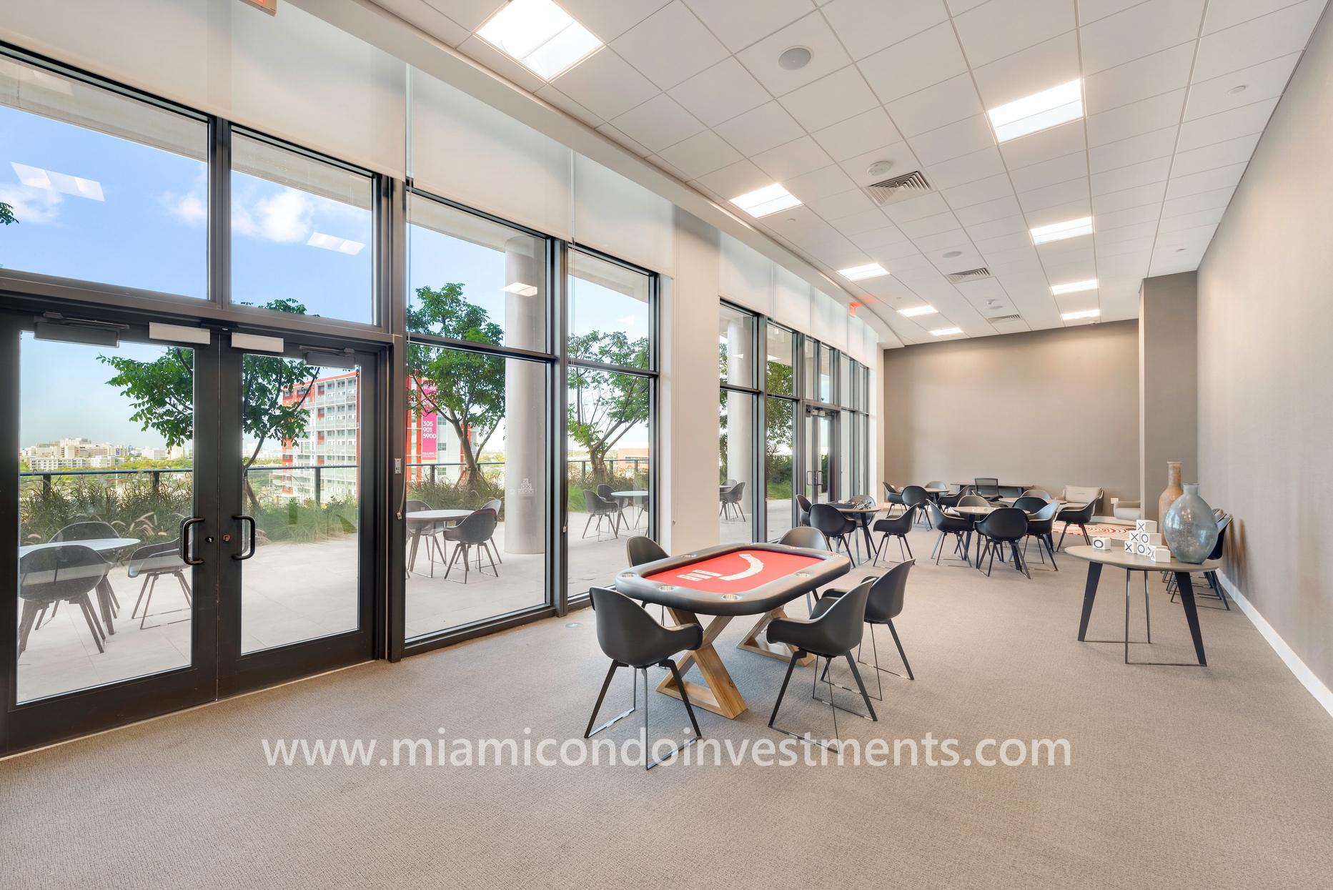 social room at Canvas condos