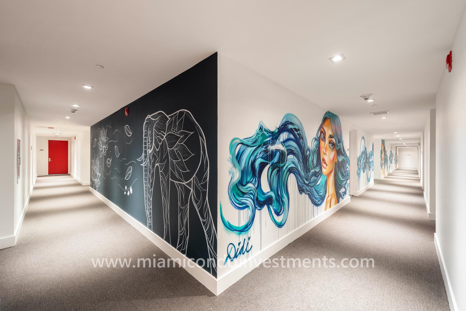 Canvas hallway mural by Didi