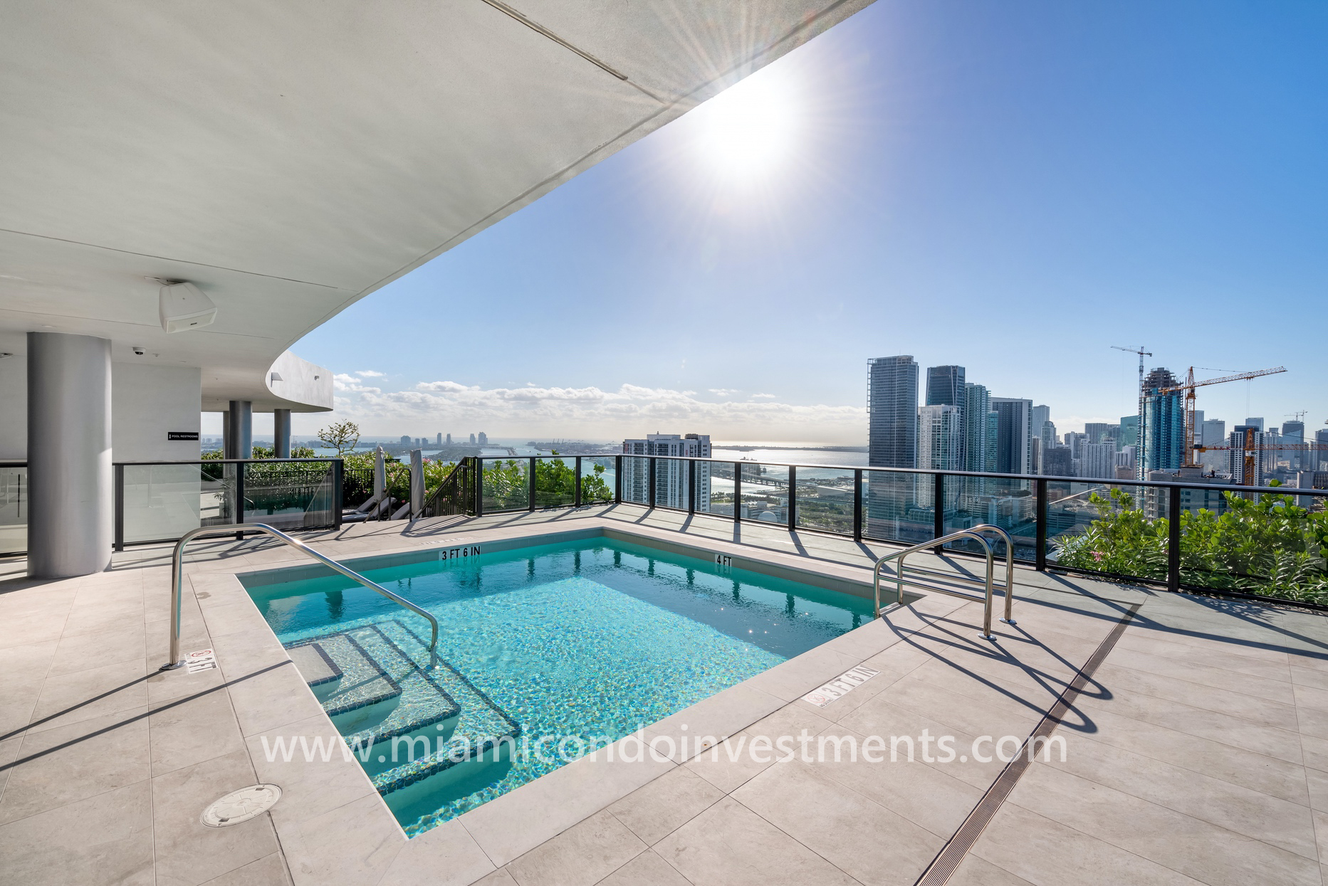 Canvas rooftop plunge pool