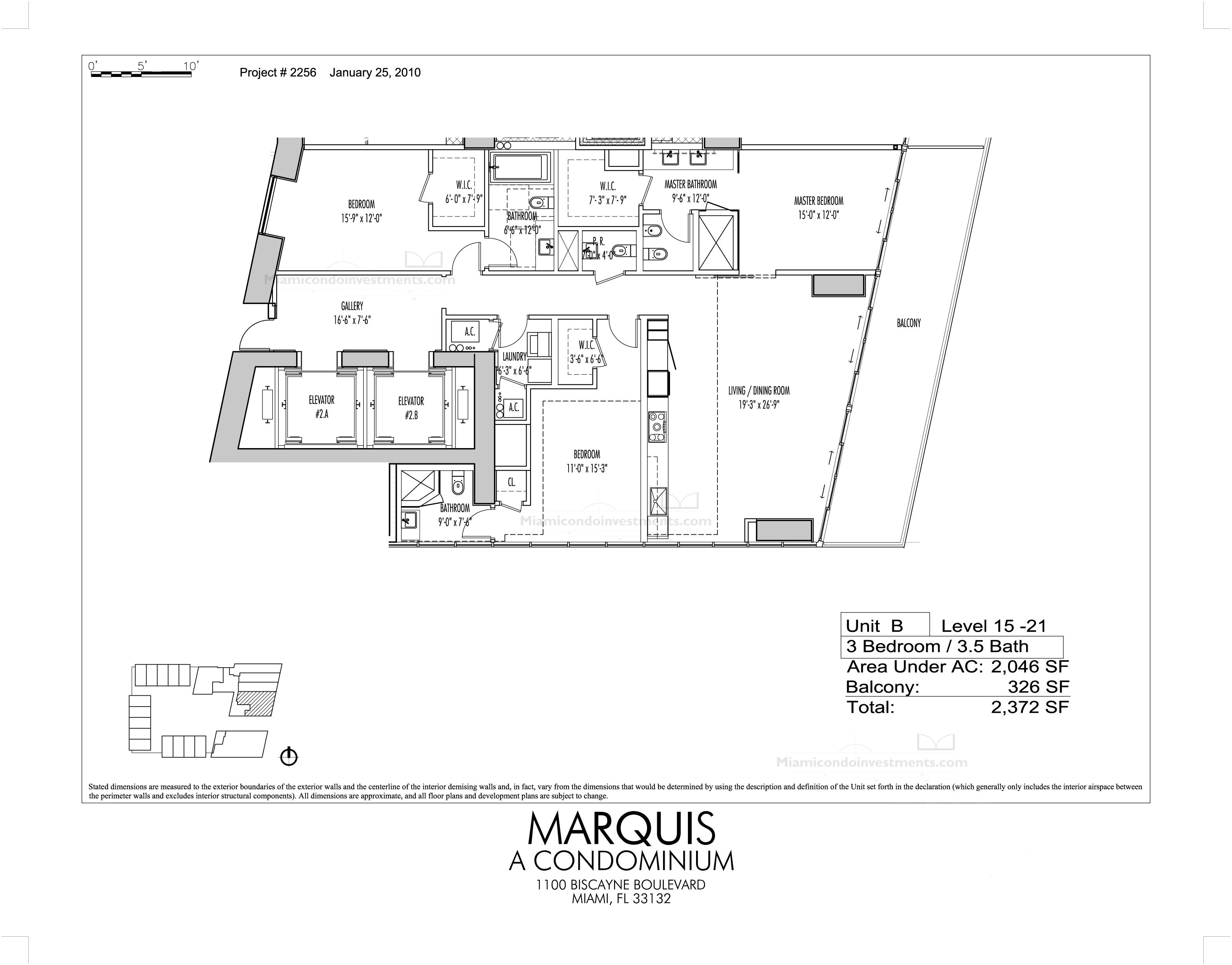 Marquis Residences unit 1902 floor plan