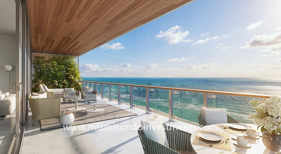 12-foot deep terraces at 57 Ocean