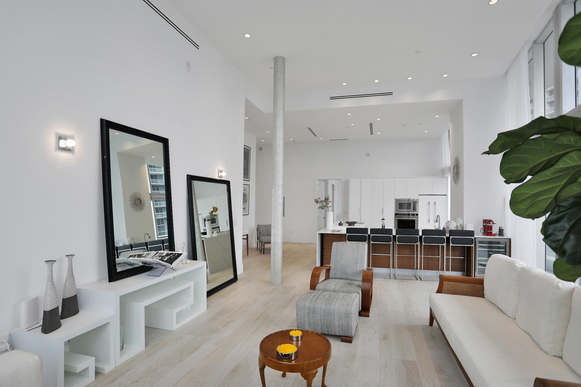living room with open floor plan