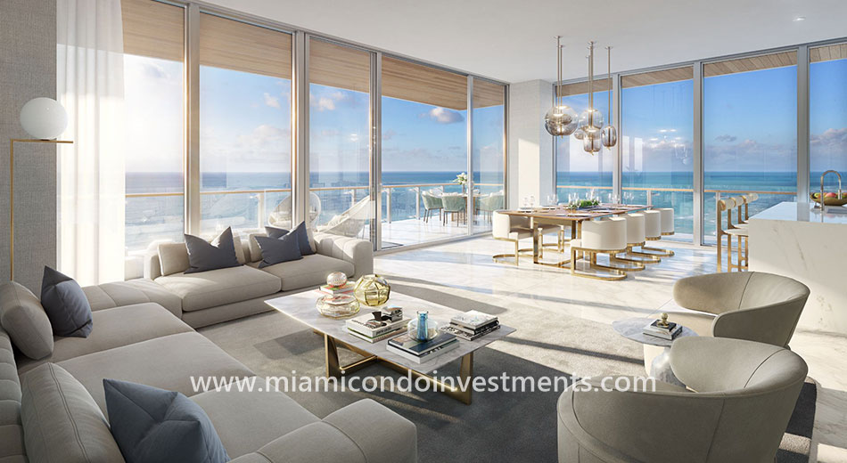 living room at 57 Ocean