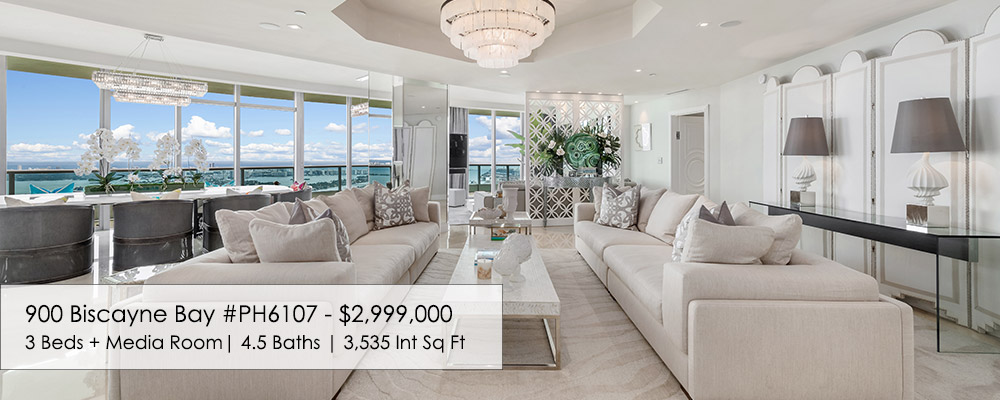 Miami luxury penthouse at 900 Biscayne Bay