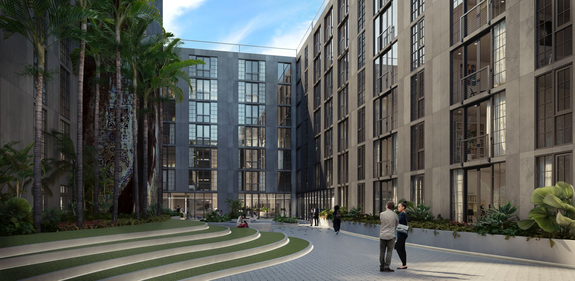 Wynwood 25 courtyard