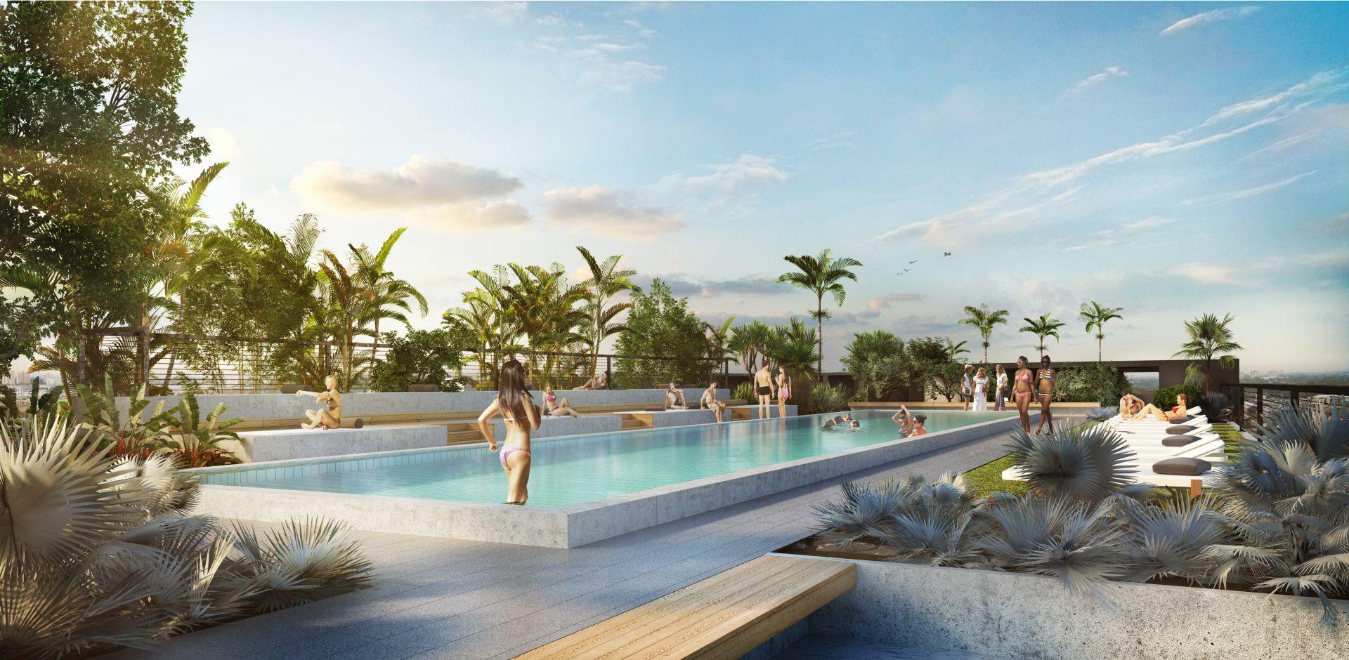 Wynwood 25 rooftop pool