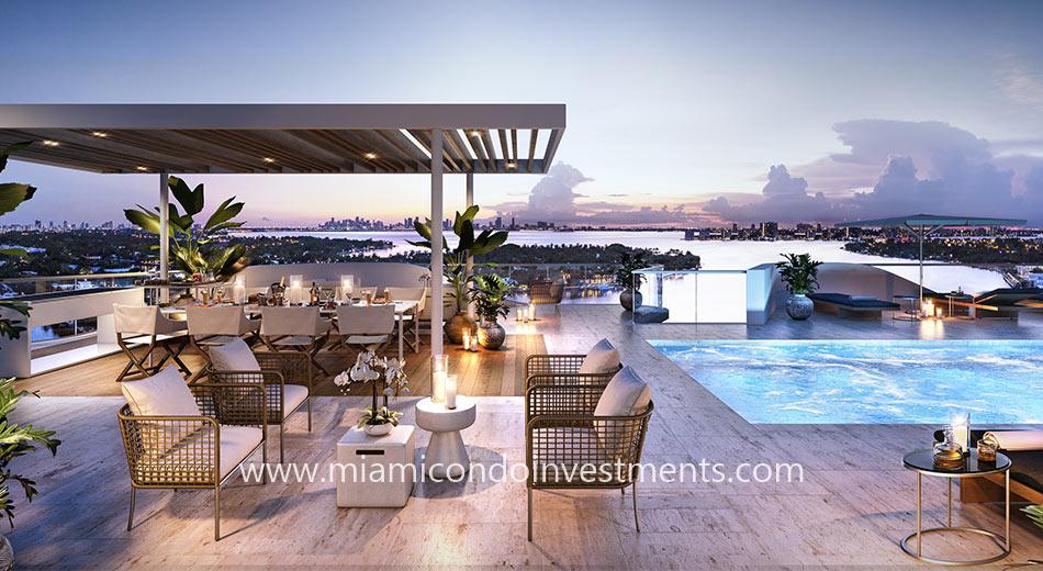 Monaco Yacht Club rooftop deck