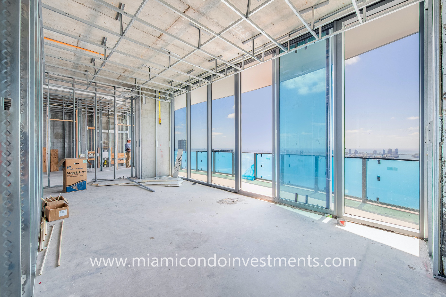 master bedroom views from Brickell Flatiron UPH06