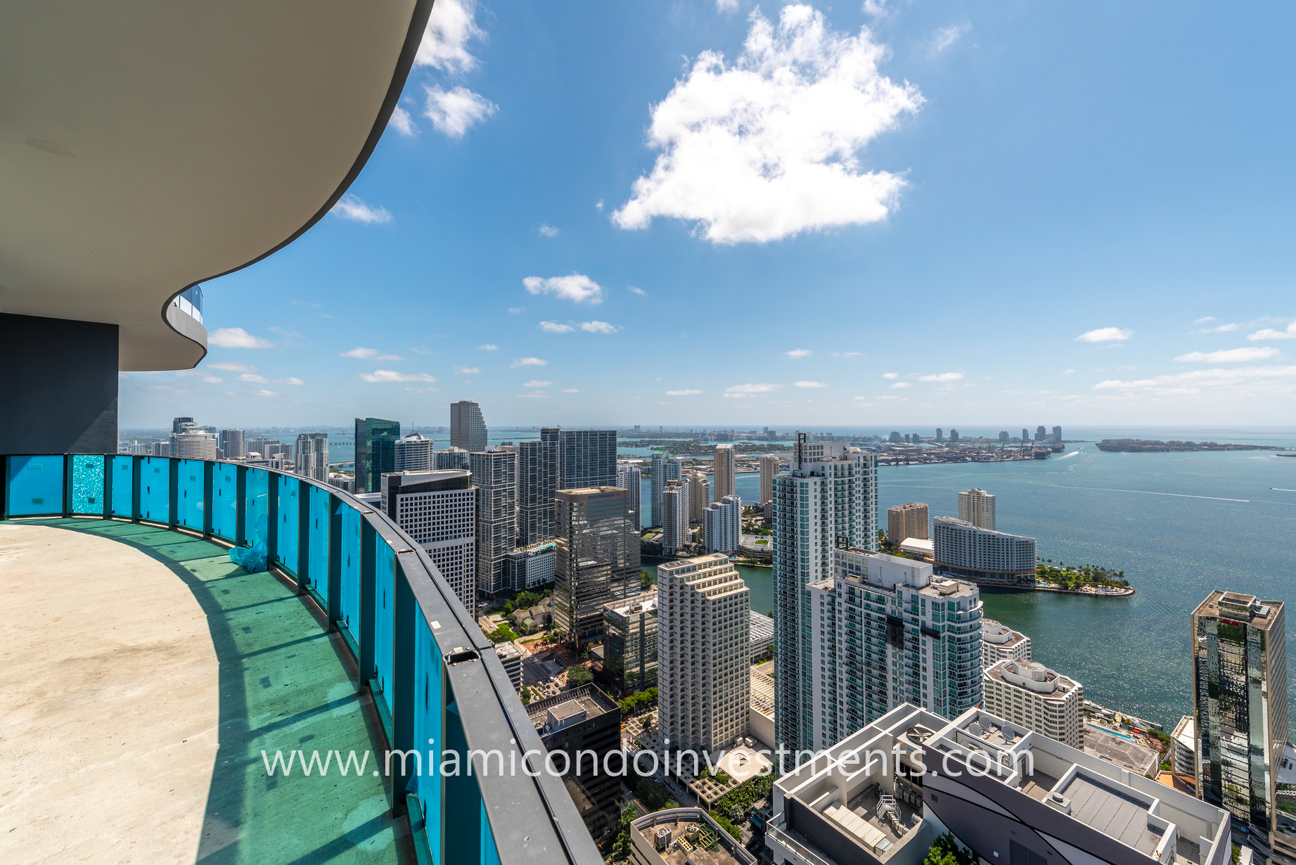 views from 63rd floor of Brickell Flatiron