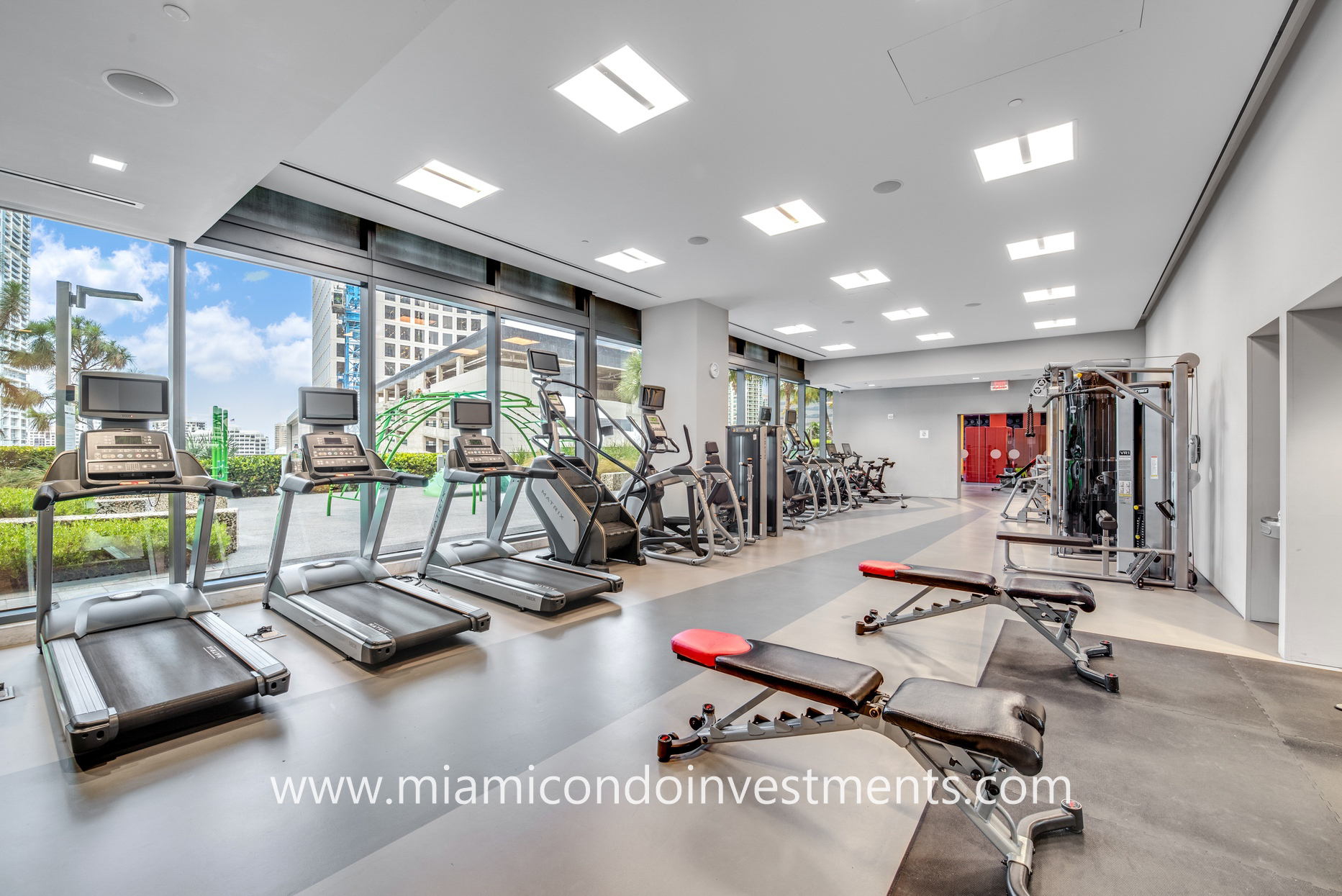 fitness center at Reach Brickell City Centre