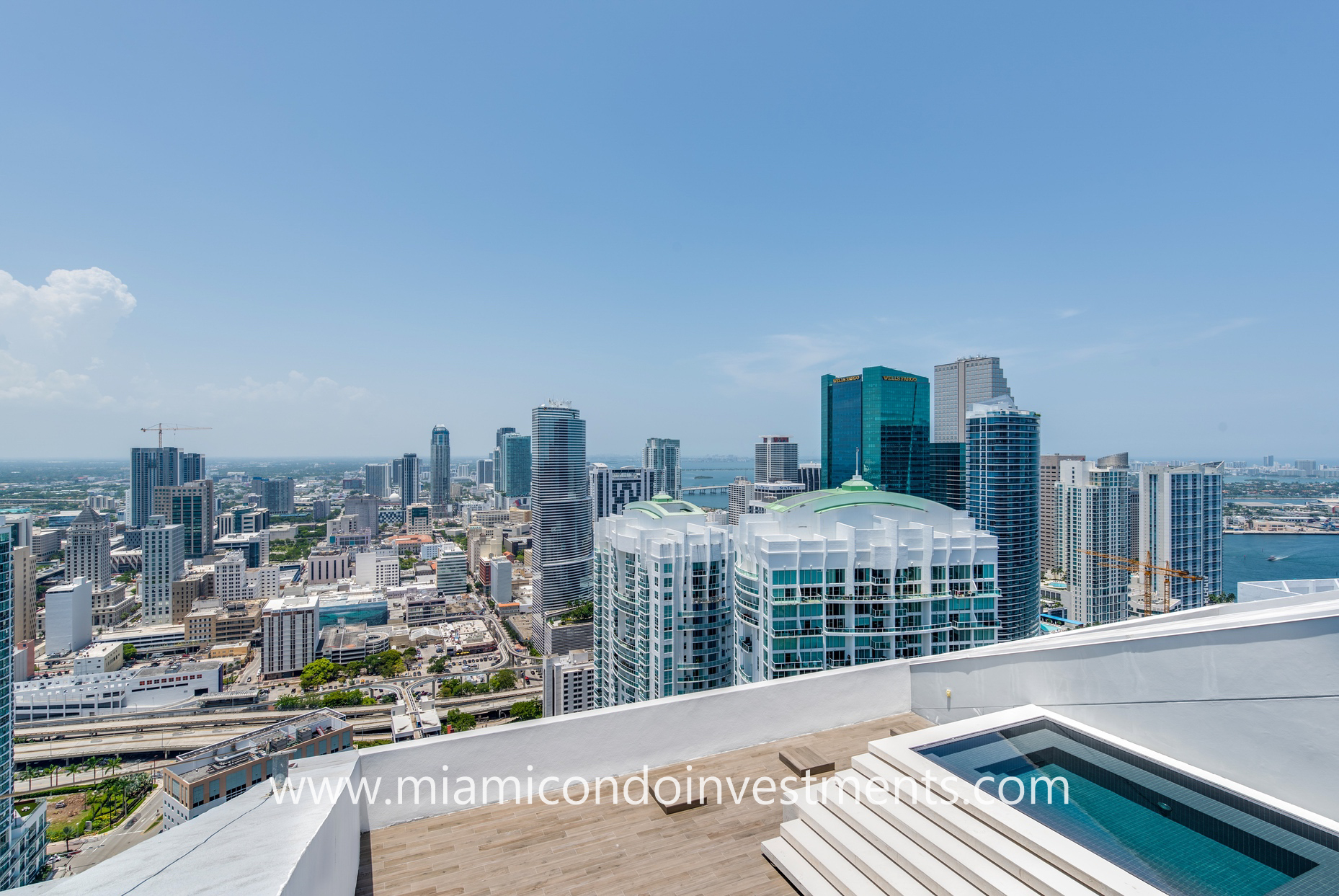views of Brickell and Downtown Miami