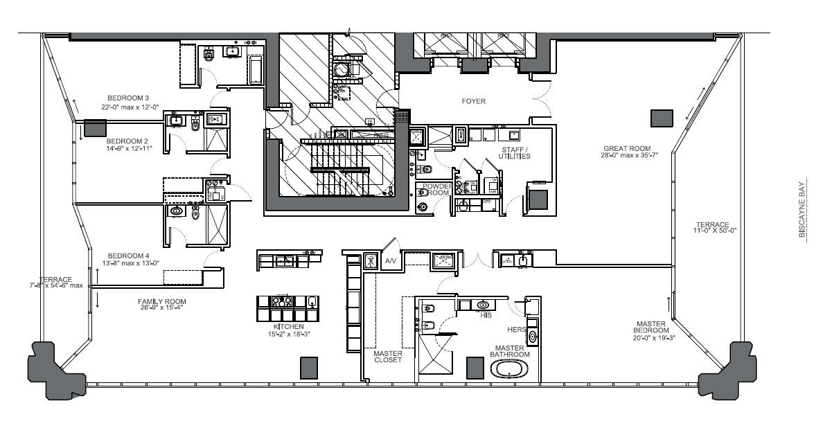 One Thousand Museum unit 4901 floor plan