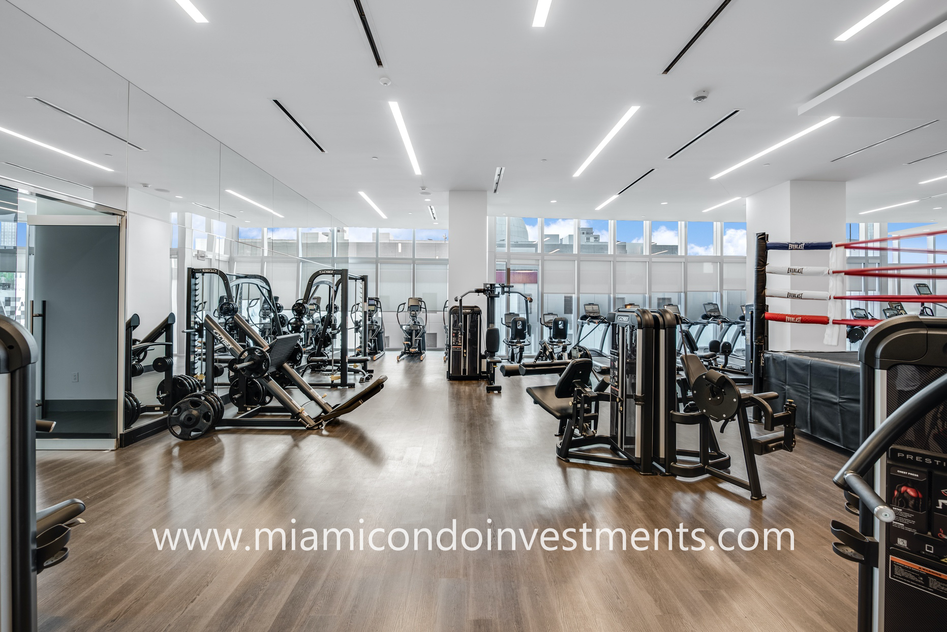 Paramount Miami full-equipped fitness center