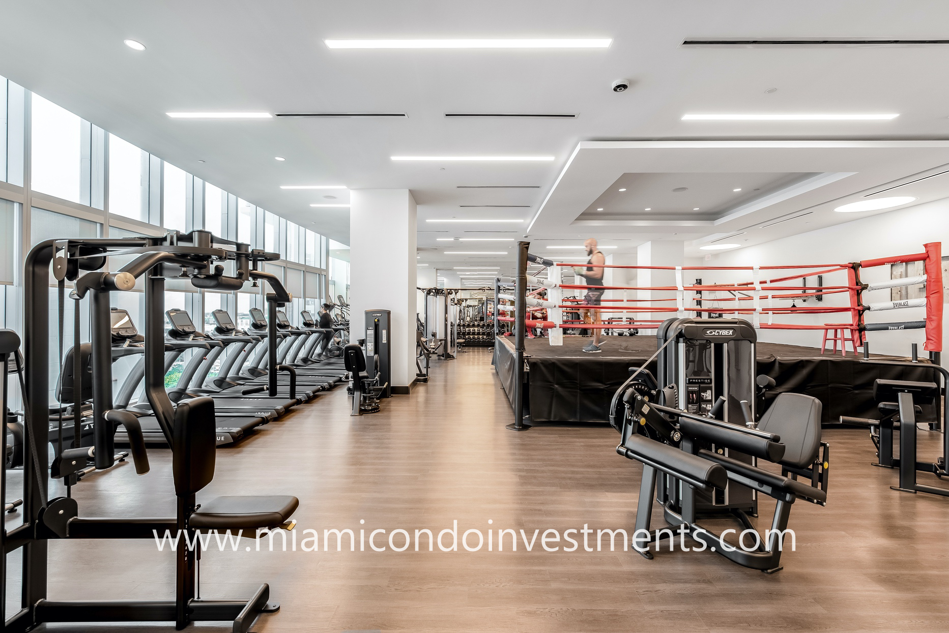 Paramount Miami gym and boxing ring