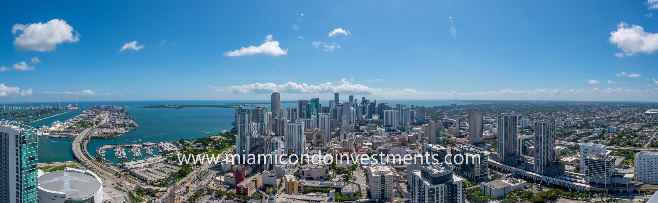 paroramic views from atop Paramount Miami Worldcenter