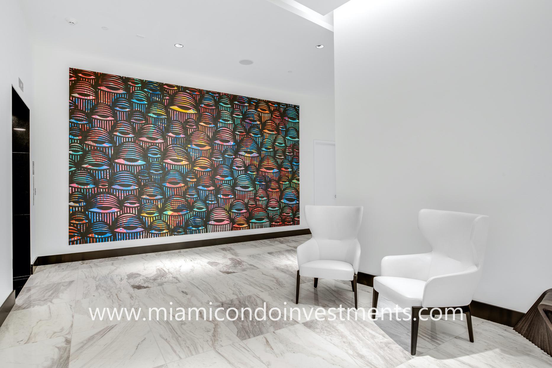 Paramount Miami elevator lobby