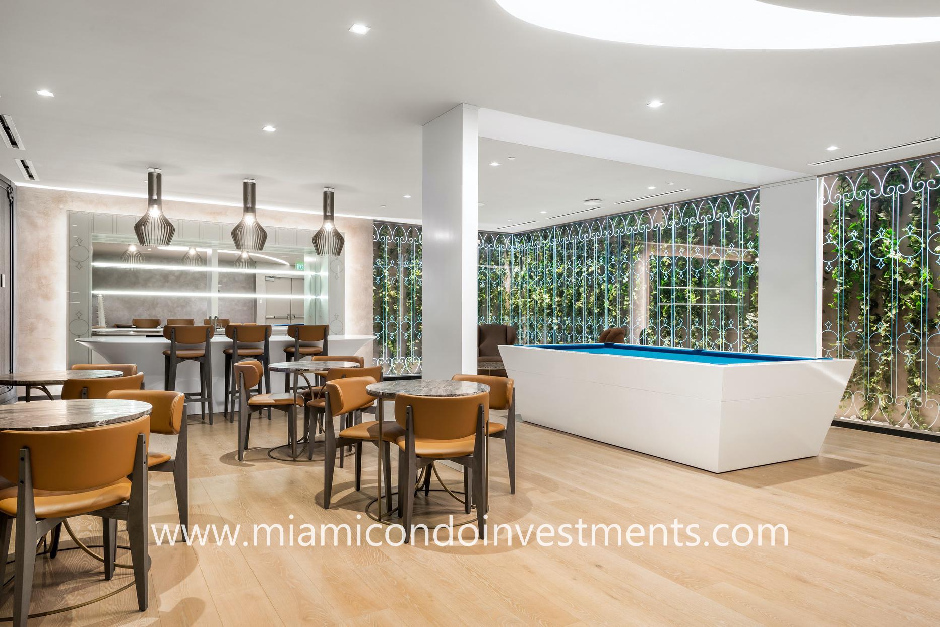 Brickell Flatiron wine and billiards room