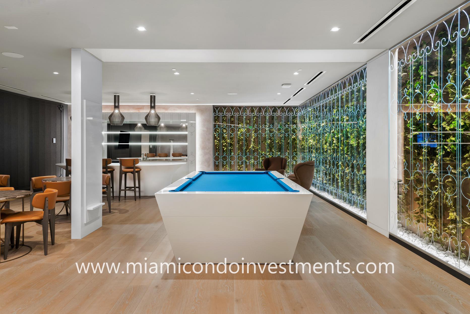 Brickell Flatiron billiards room