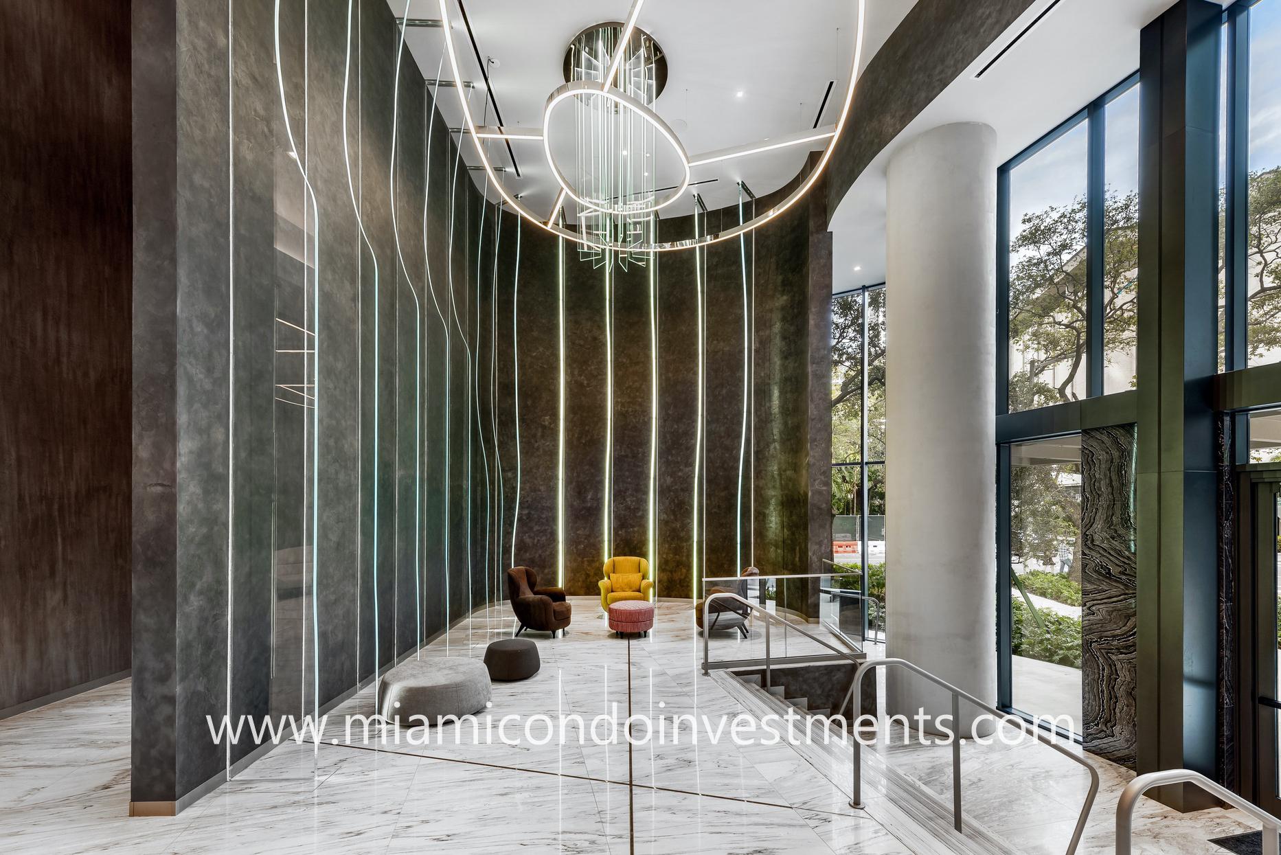 Brickell Flatiron lobby seating area