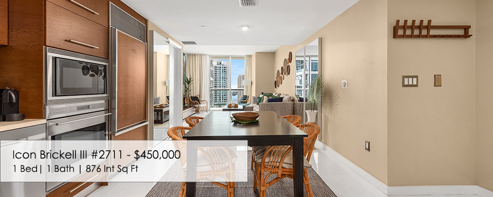one bedroom condo for sale at Icon Brickell III