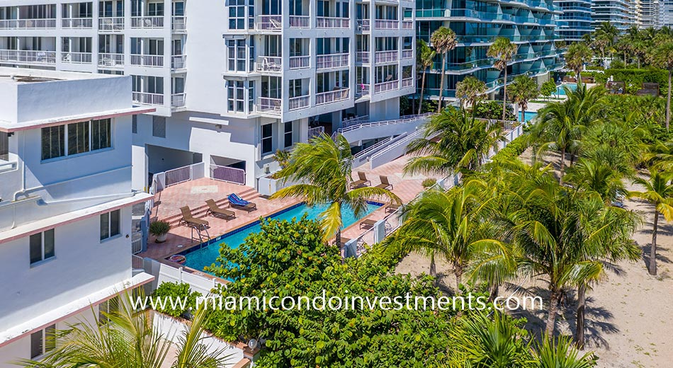 pool deck of Marbella condominium