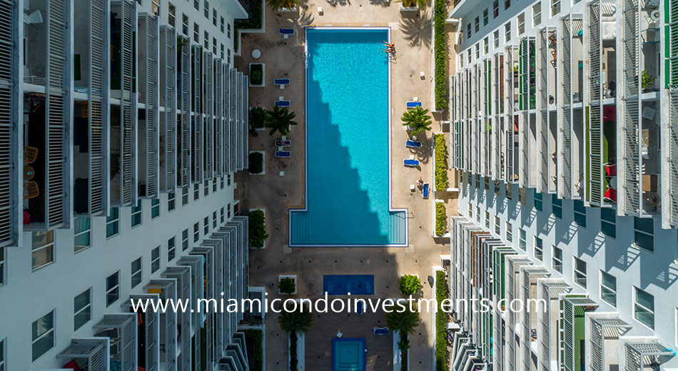 Square Station apartments pool deck