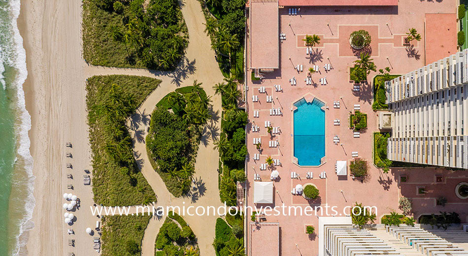 aerial view of Balmoral pool deck