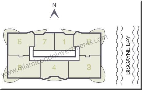 23 Biscayne Bay site plan
