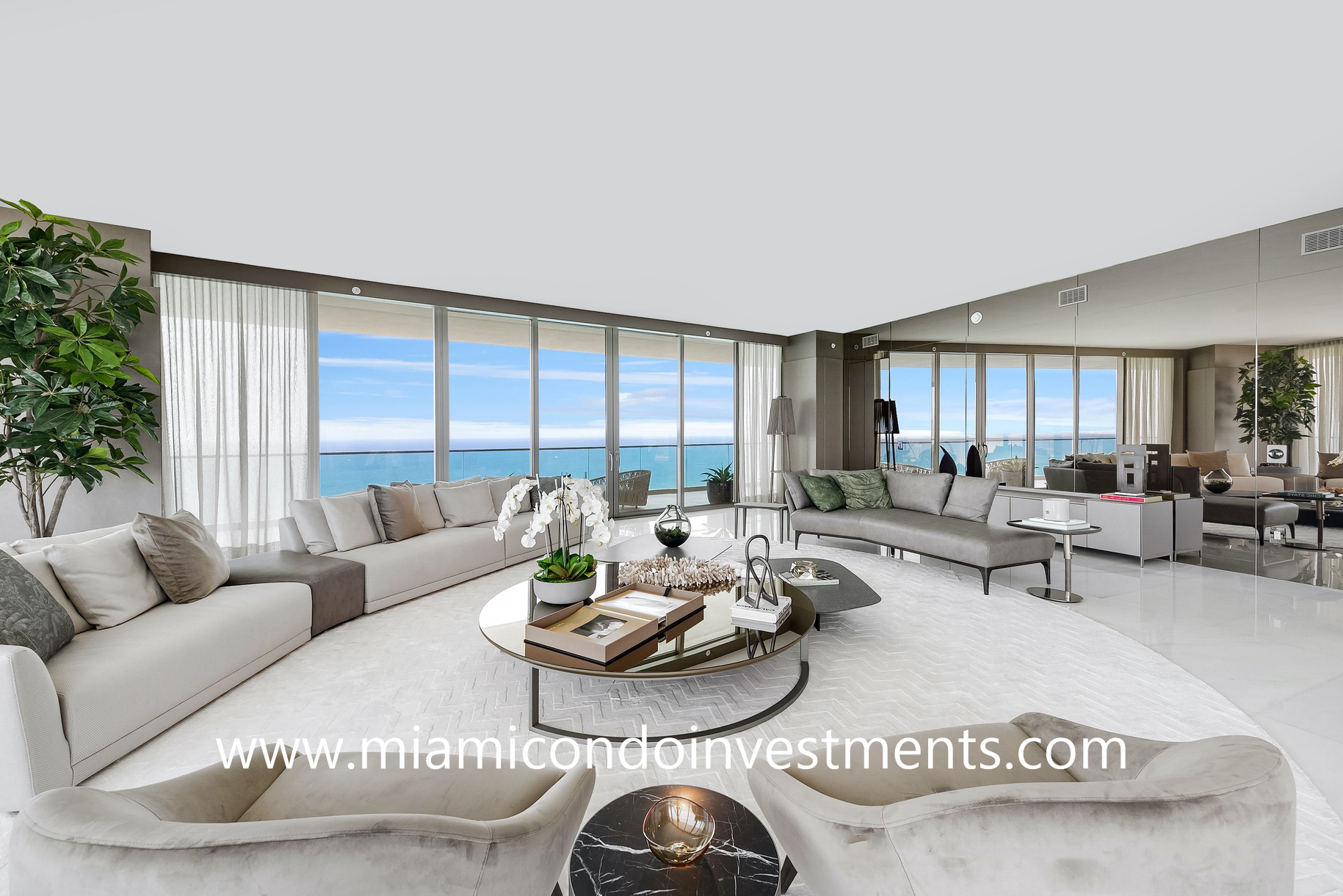 Residences by Armani Casa living room