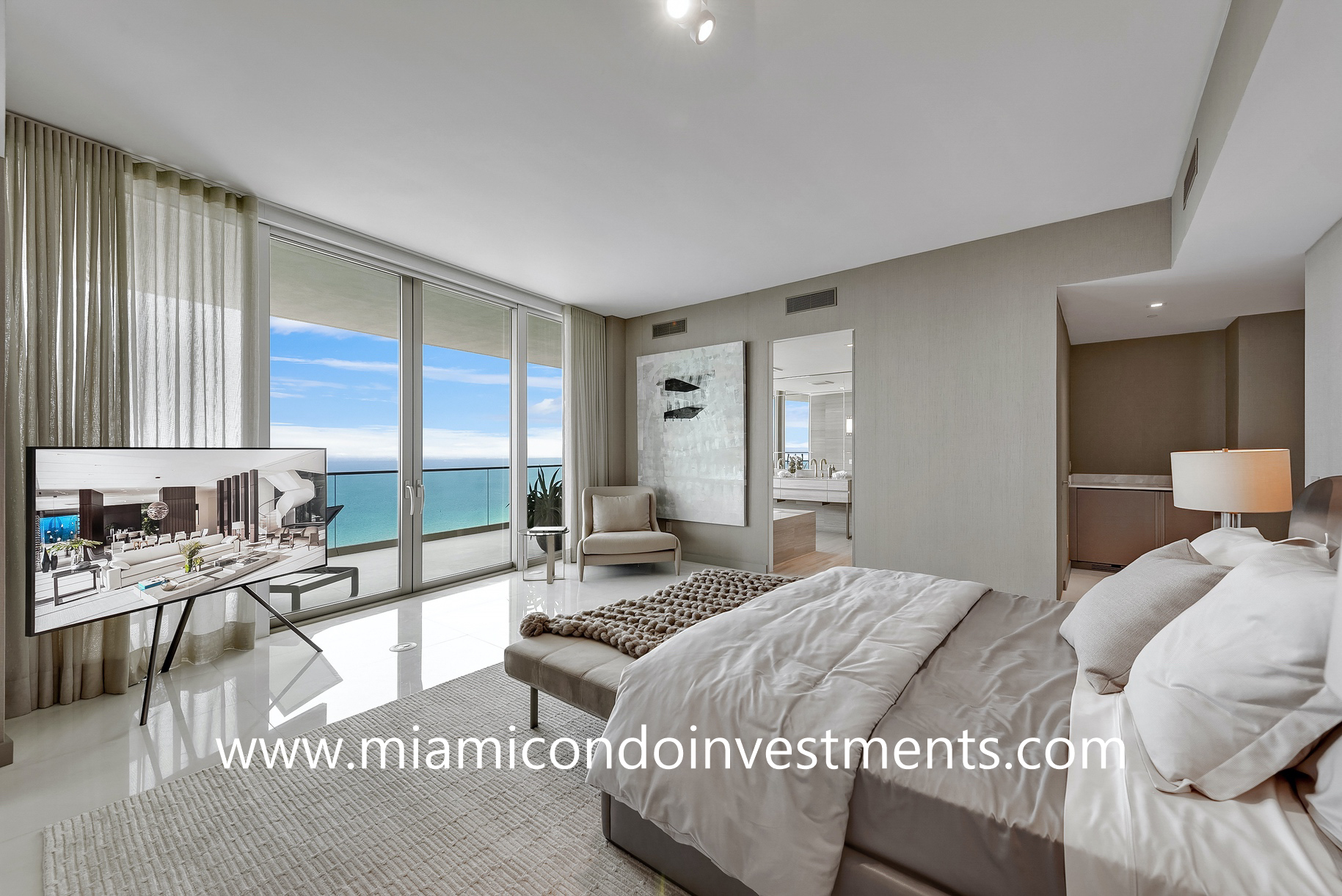 Residences by Armani Casa master bedroom