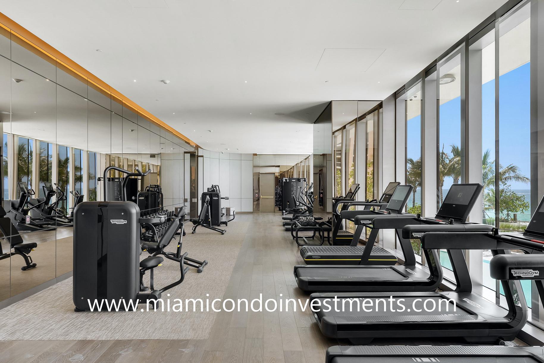 fitness center view ocean views