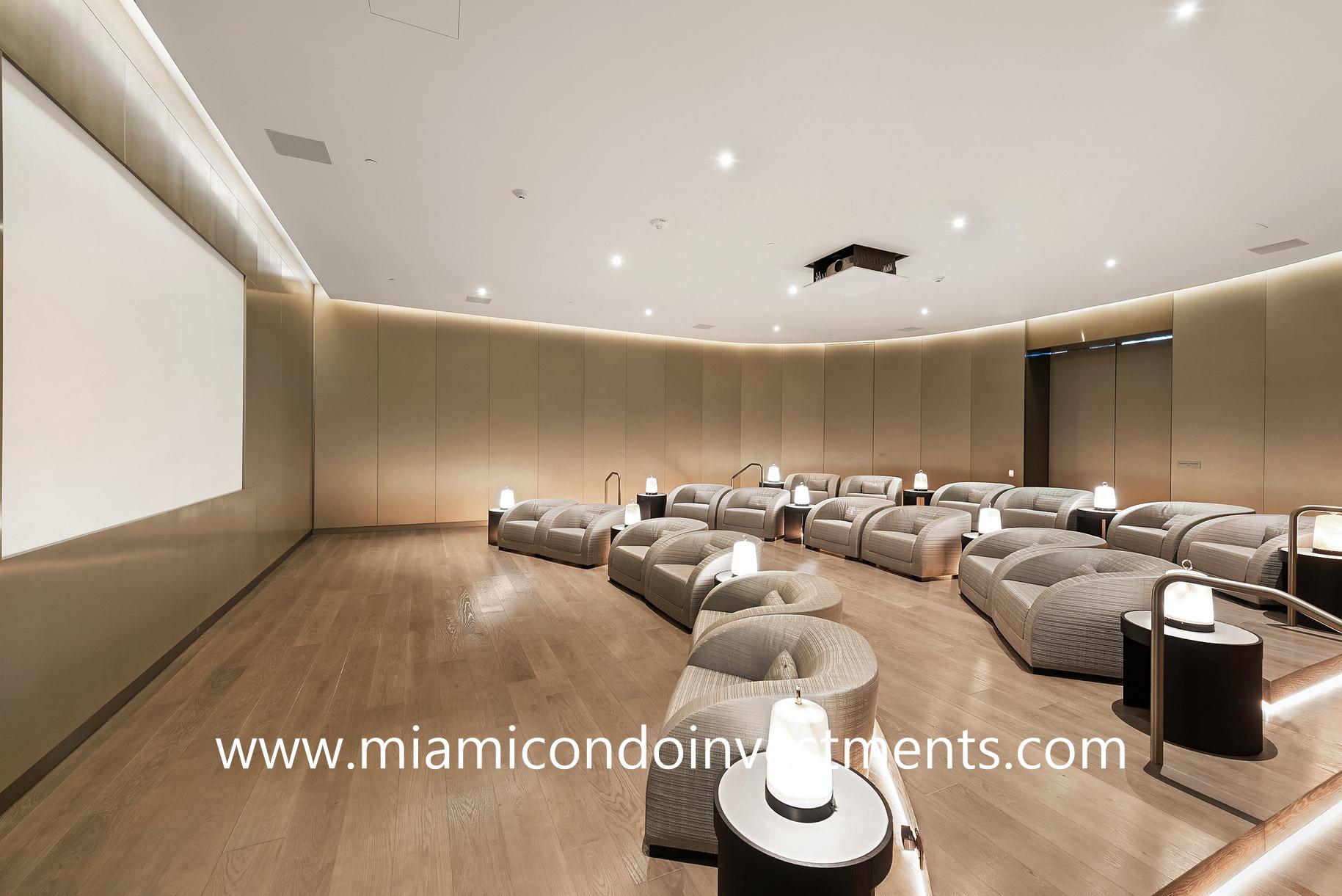 Armani Casa movie theater