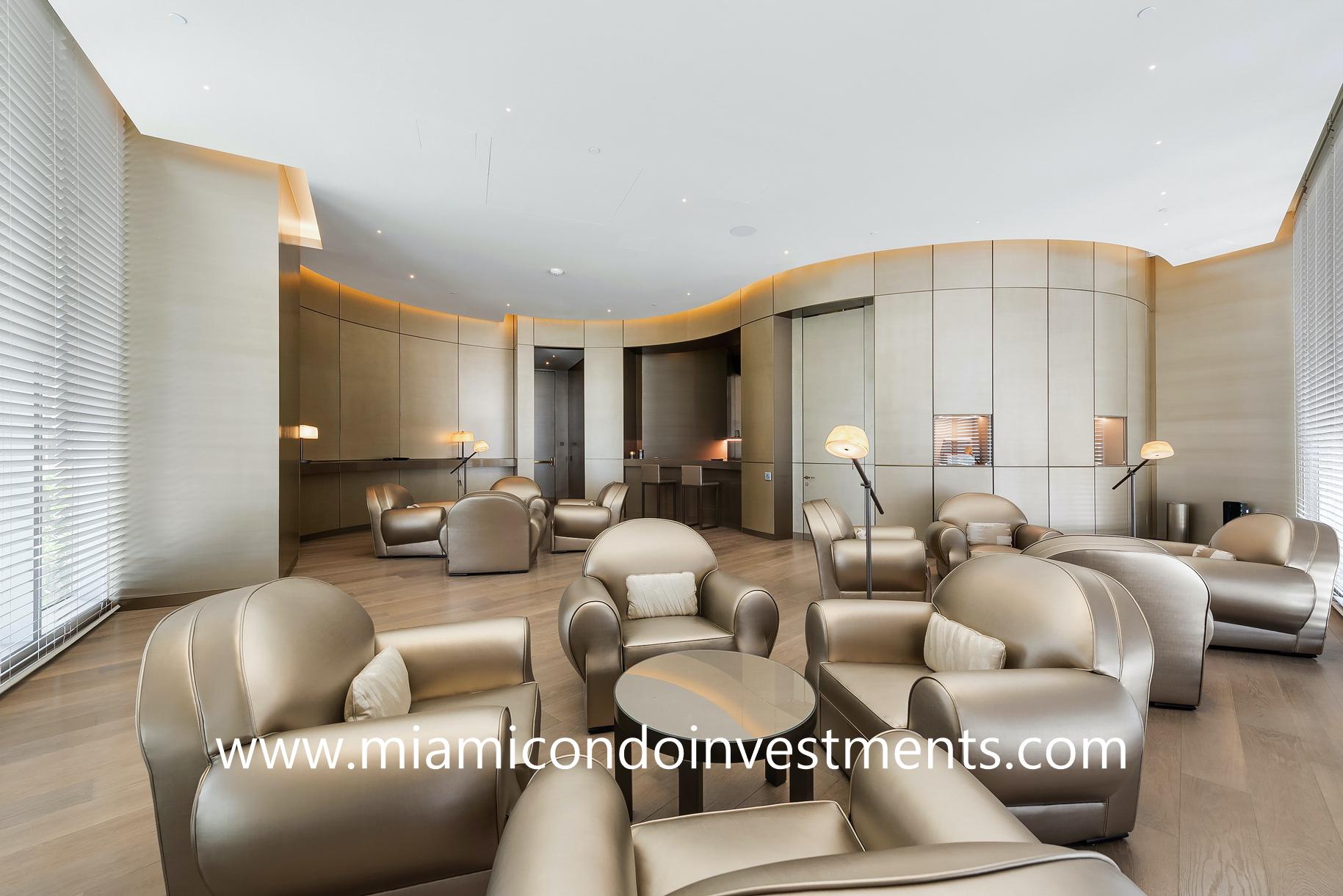 cigar room at Armani Casa Residences