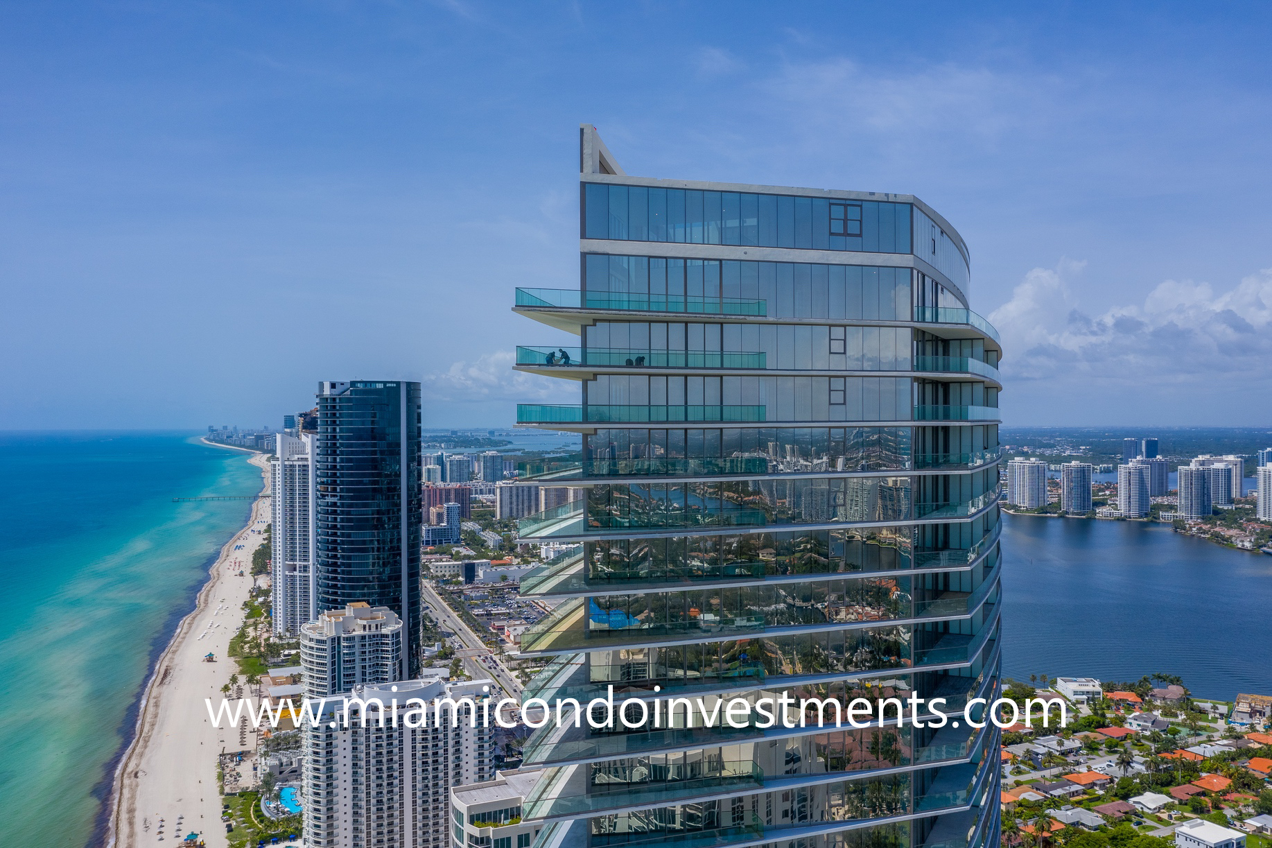 water views from Residences by Armani Casa
