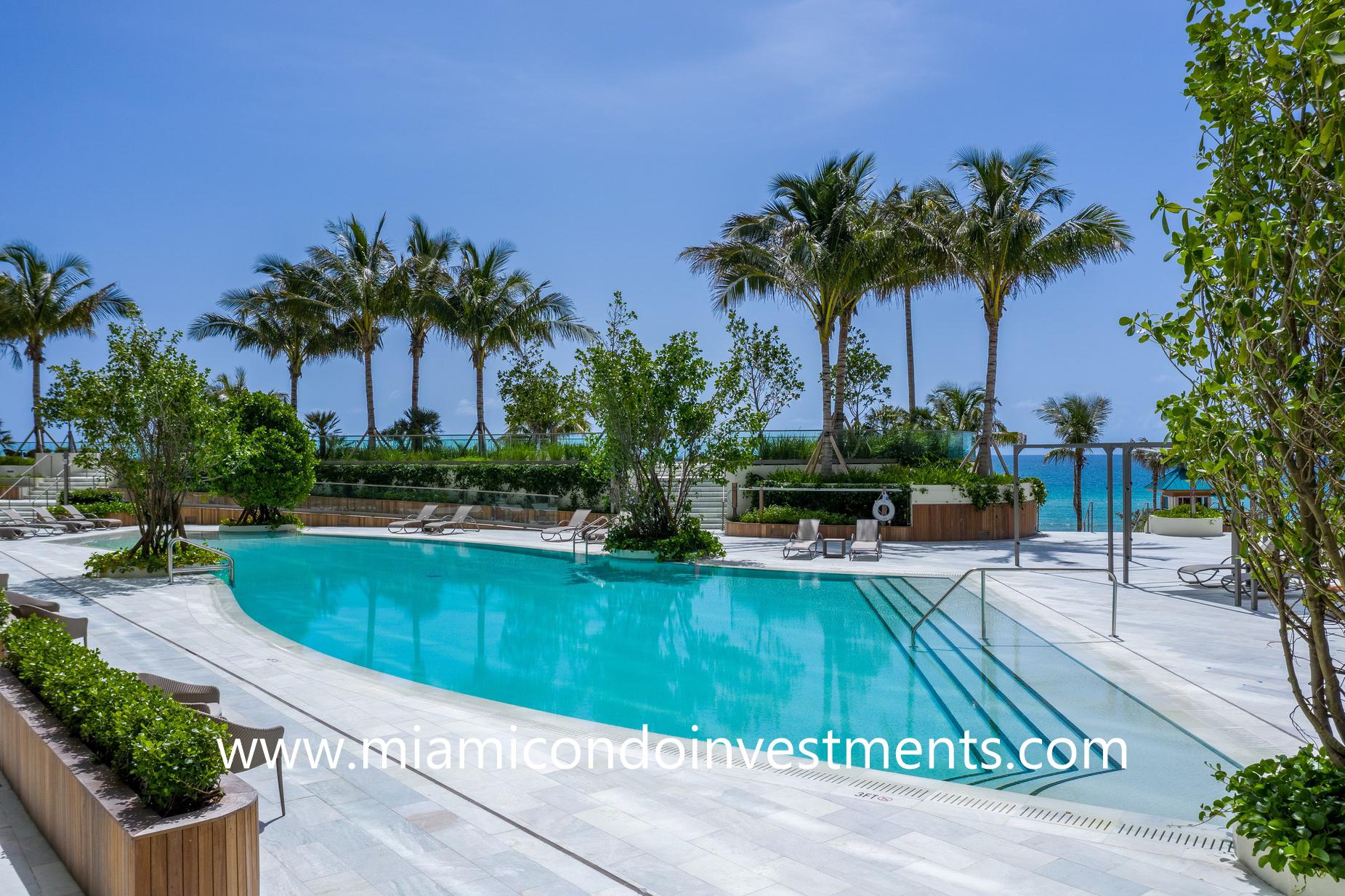 infinity-edge pool at Armani Casa Residences
