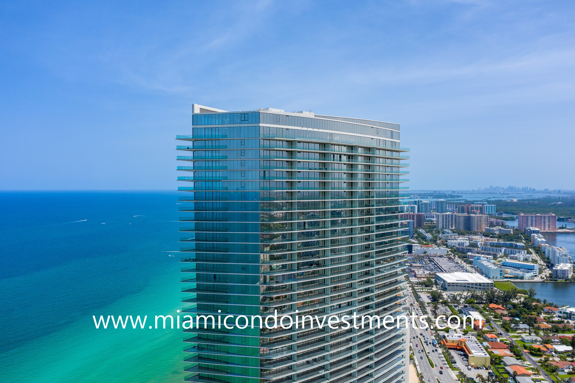 ocean and city views from Armani Casa Residences