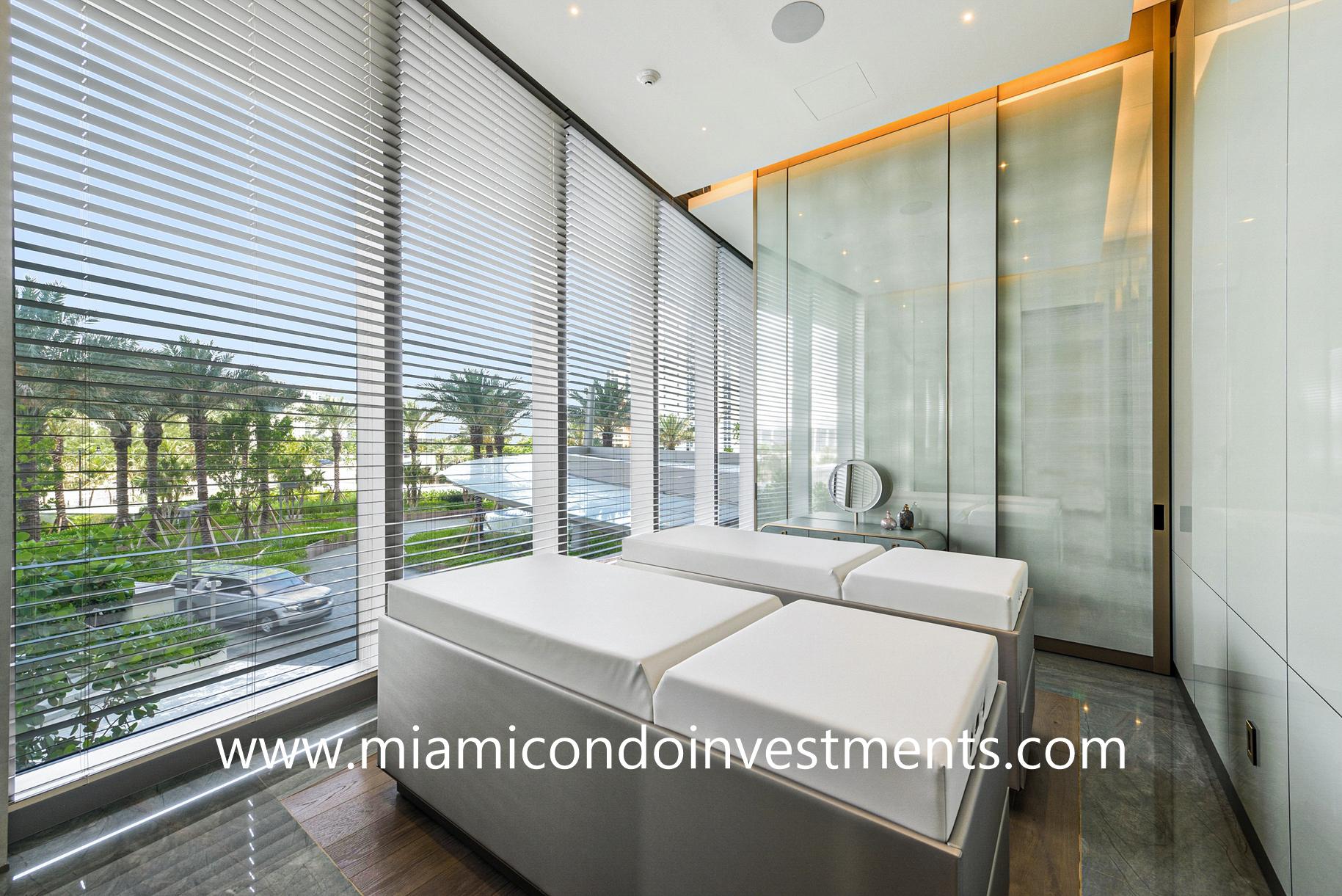couples treatment room at Armani Casa Residences