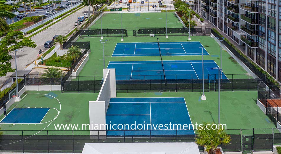 The Charter Club tennis courts