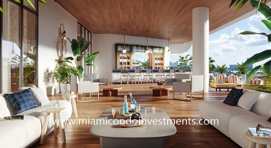 outdoor bar at Mr C Residences