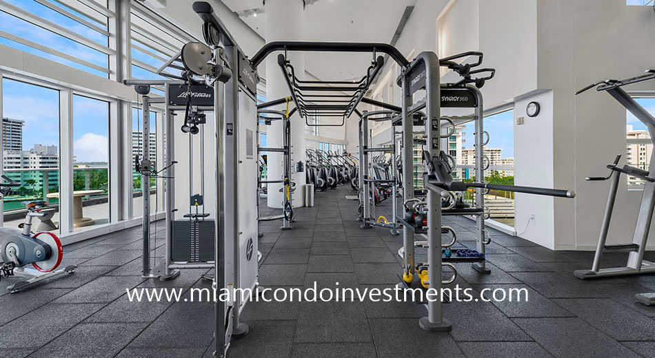 fitness center at Flamingo Point