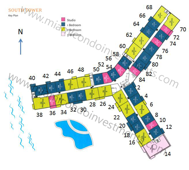 Flamingo South Beach South Tower site plan