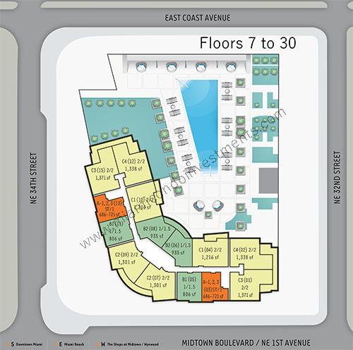 4 Midtown site plan
