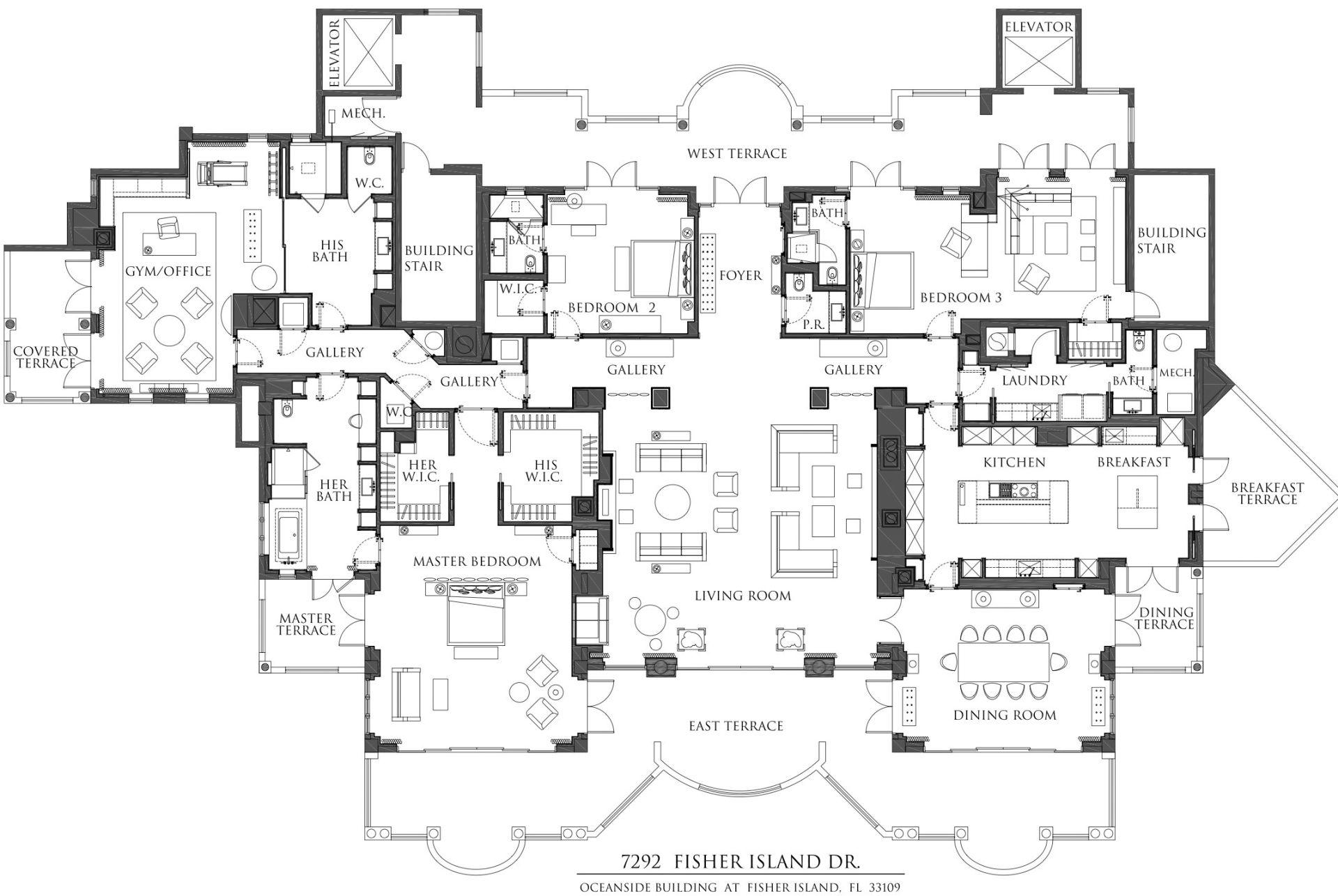Oceanside PH7292 floor plan