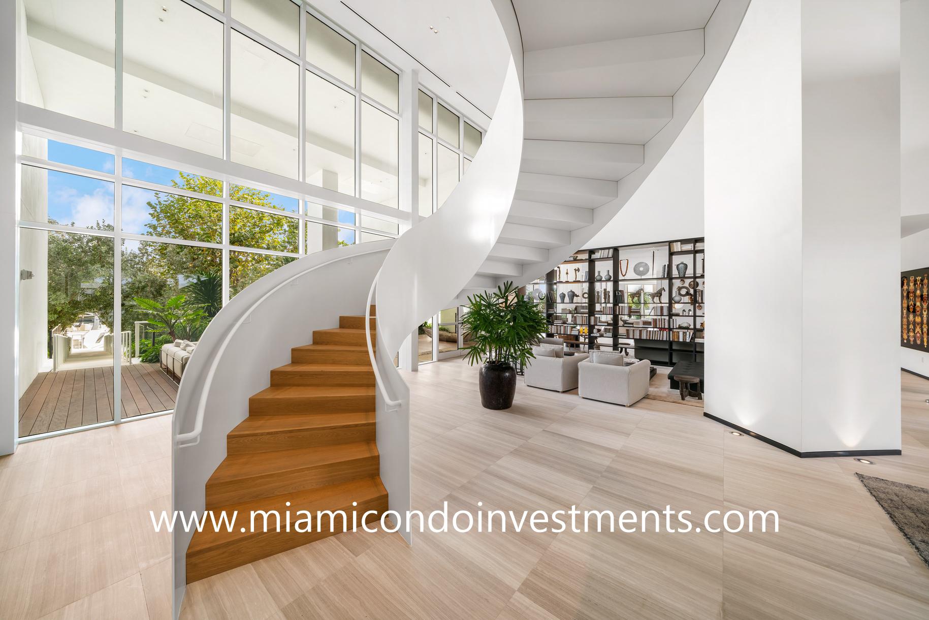 Ritz-Carlton Residences spiral staircase