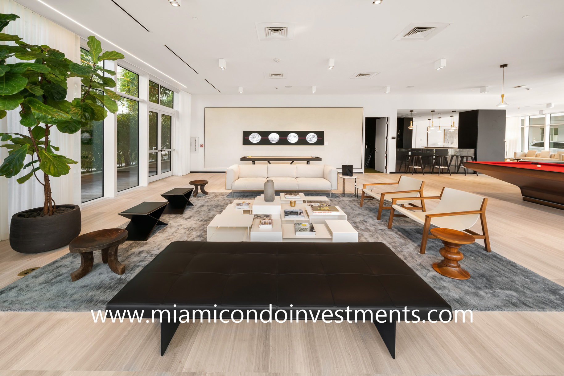 social room at Ritz-Carlton Residences Miami Beach